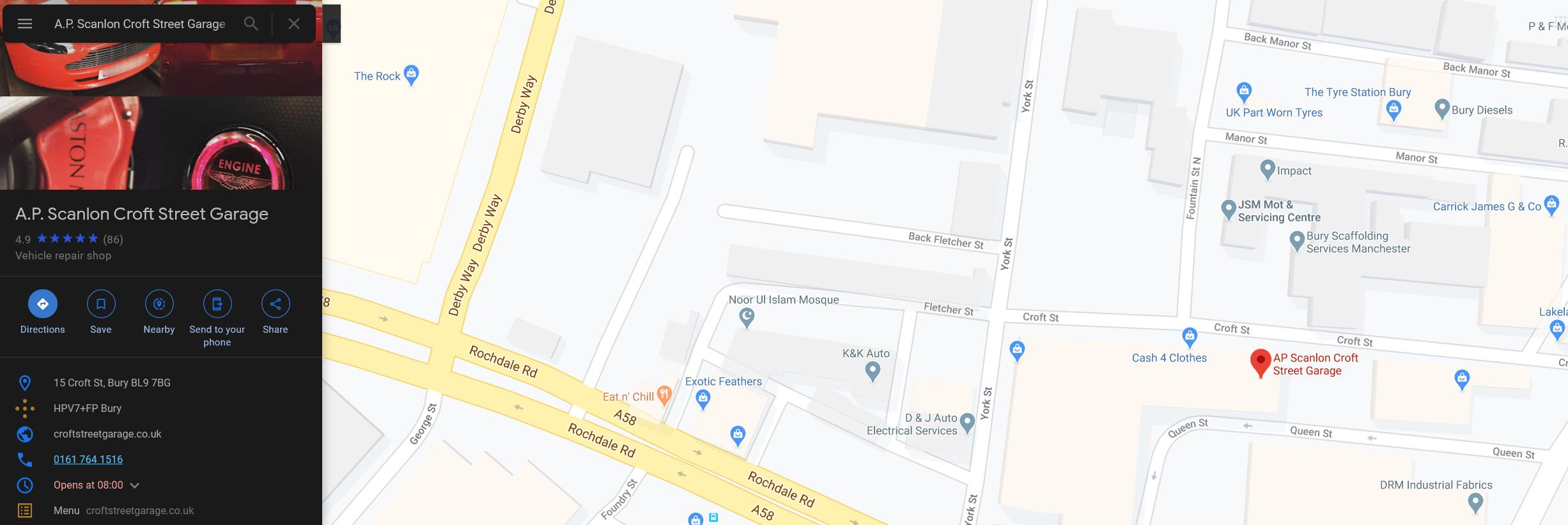 croft-street-garage-bury-directions